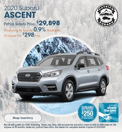 2020 Subaru Ascent December Offer