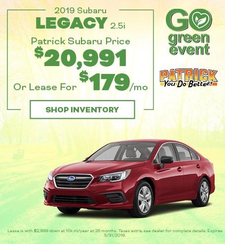 May 2019 Subaru Legacy