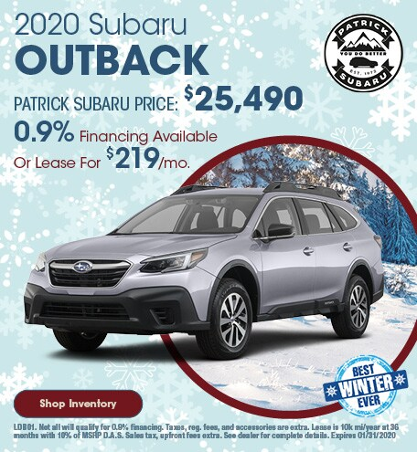2020 Subaru Outback January Offer