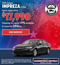 2020 Subaru Impreza 4-Door Feb Offer