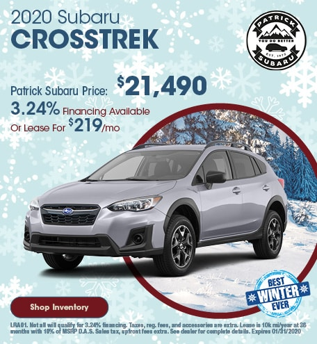 2020 Subaru Crosstrek January Offer