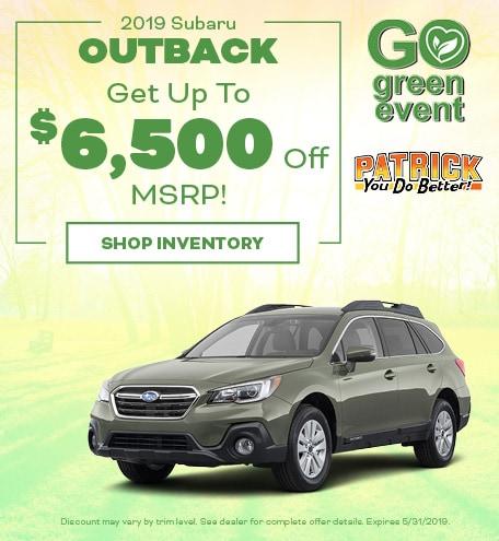 May 2019 Subaru Outback Discount
