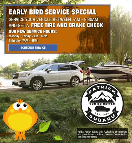 Early Bird Service Special