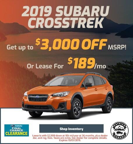 2019 Crosstrek September Offer