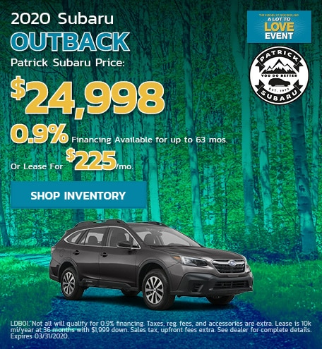 2020 Subaru Outback March Offer