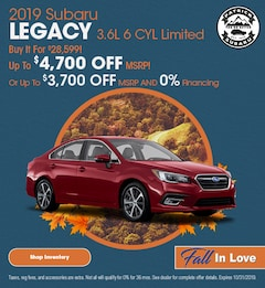 2019 Legacy 3.6L 6 CYL Limited October Offer
