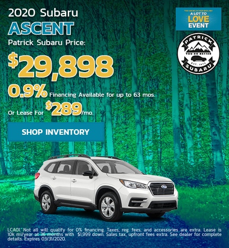 2020 Subaru Ascent March Offer