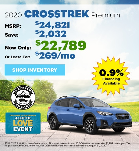 2020 Subaru Crosstrek August Offer