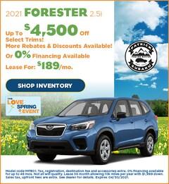 2021 Forester 2.5i
