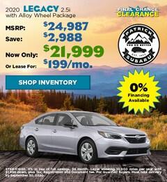 2020 Subaru Legacy September Offer