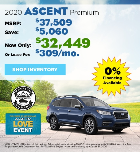 2020 Subaru Ascent August Offer