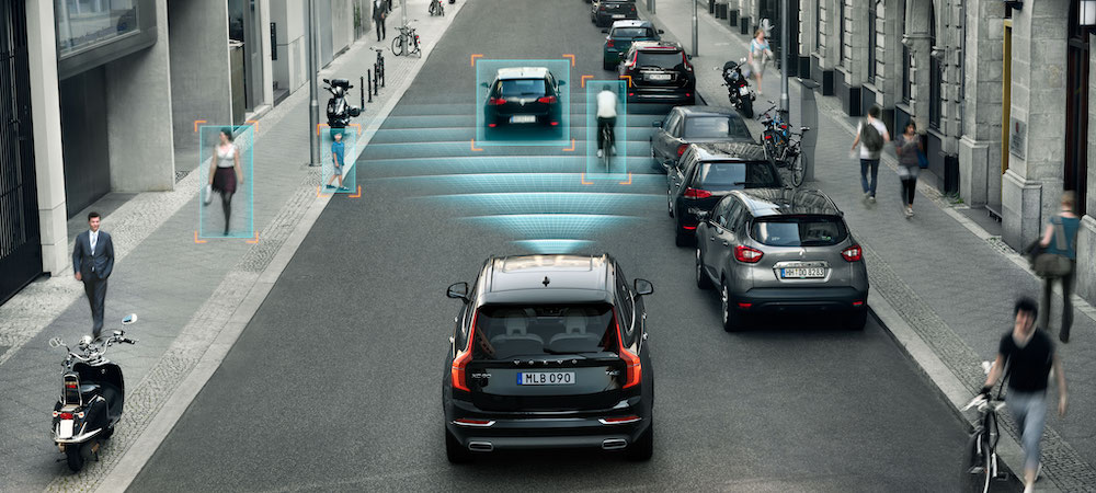 Volvo with Radar Detection Graphics