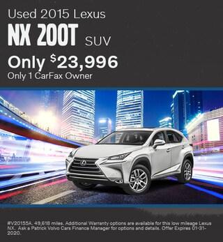 January Used 2015 Lexus NX 200t SUV