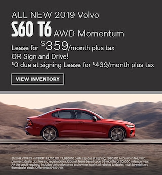 ALL NEW 2019 Volvo S60 T6 AWD Momentum