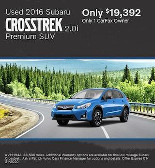 January Used 2016 Subaru Crosstrek 2.0i Premium SUV