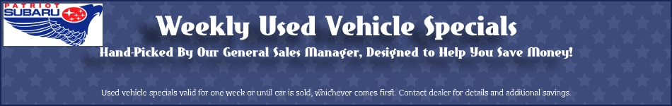 Used Vehicle Specials in North Attleboro, MA