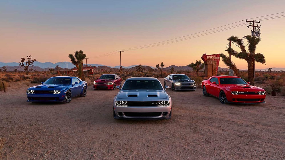 dodge challenger and charger lineup
