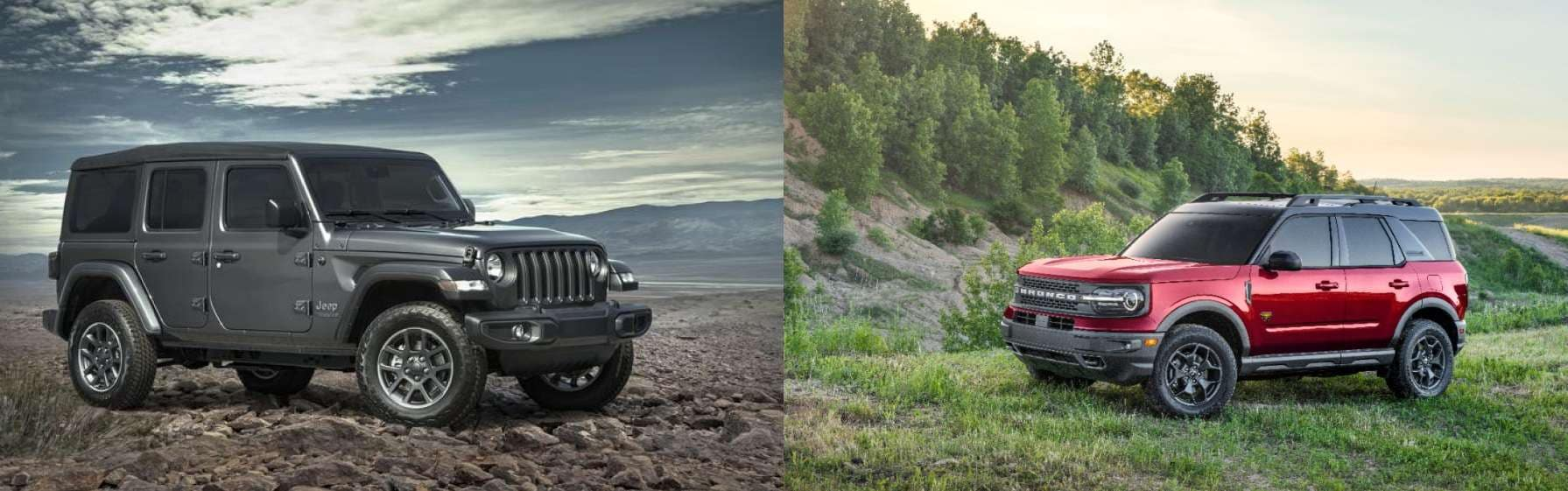 2021 jeep wrangler and 2021 ford bronco