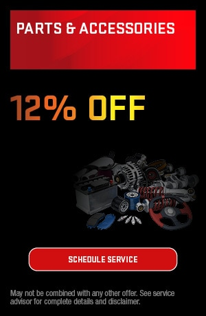 12% Off All Parts and Accessories