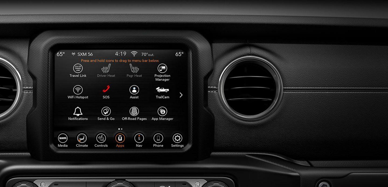 2020 jeep gladiator radio screen
