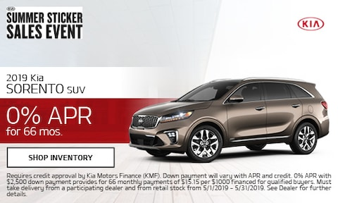 May 2019 Sorento Finance Offer