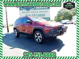 Used 2014 Jeep Cherokee Trailhawk 4x4 SUV for Sale near Levittown, PA, at Burns Auto Group