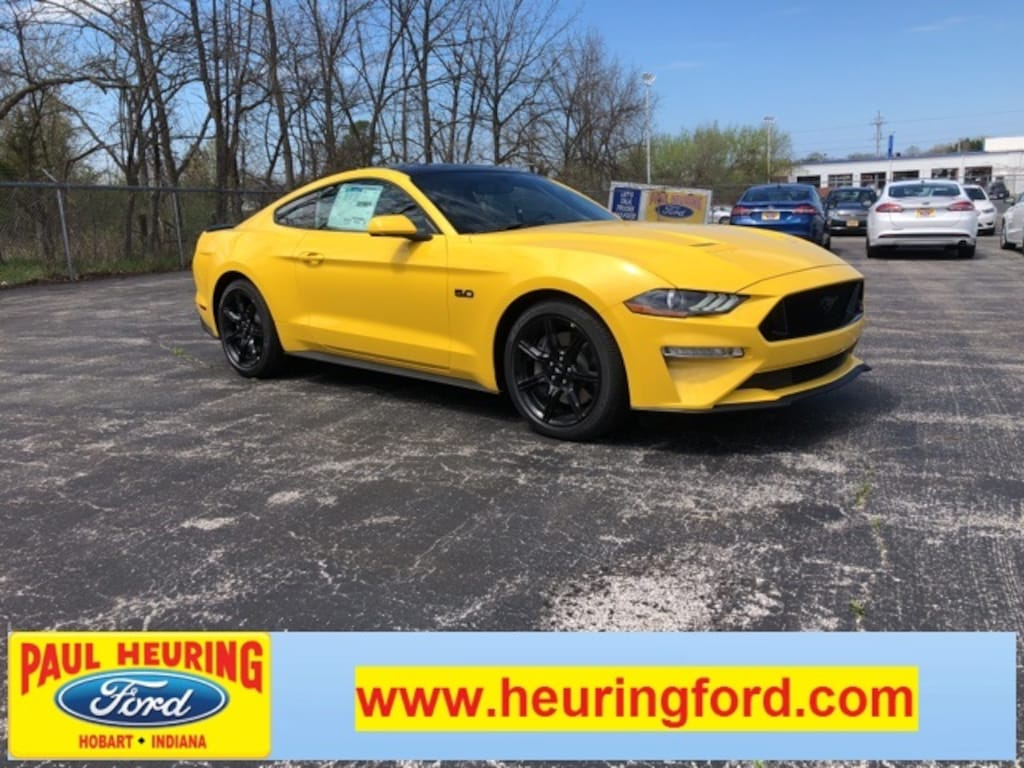 New 2018 ford mustang gt in triple yellow for sale in hobart in