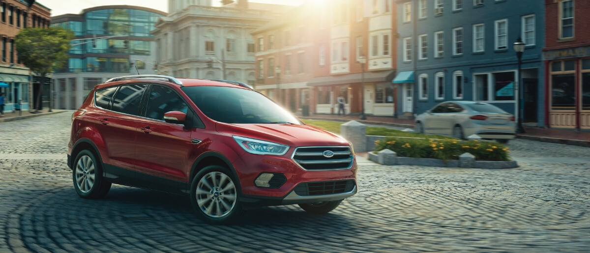 2018 Ford Escape on Cobblestone Street