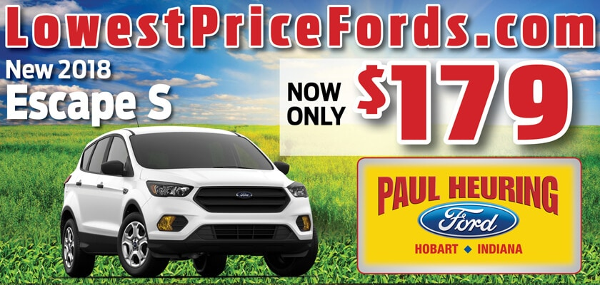 New 2018 Ford Escape S | $179