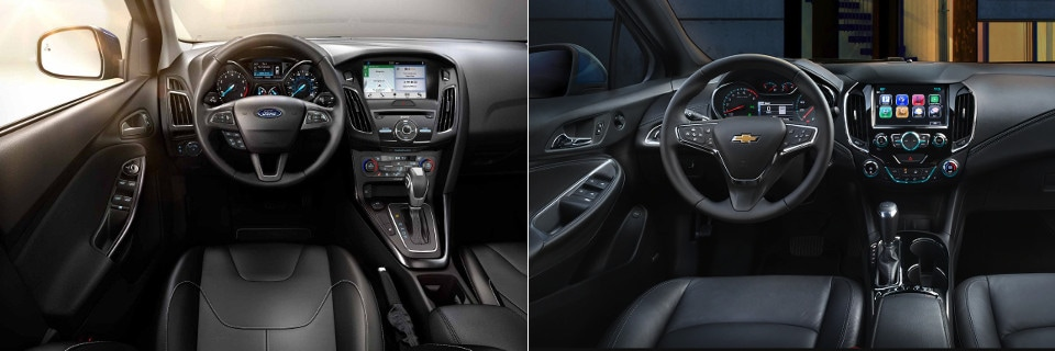 2018 Ford Focus and Chevy Cruze Interior