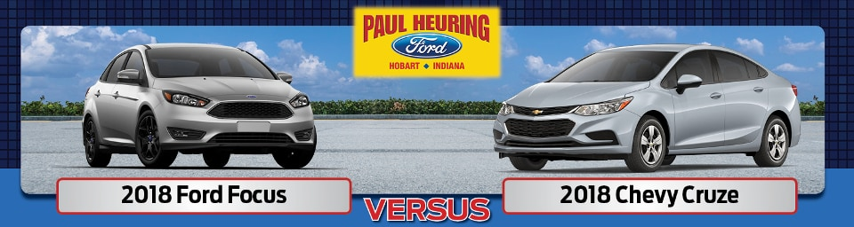 2018 Ford Focus vs. Chevy Cruze