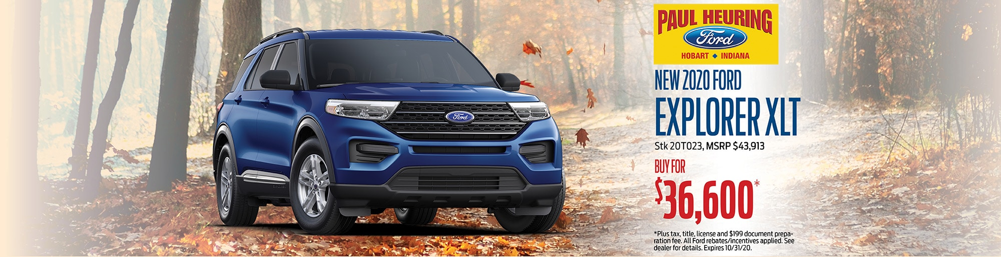 2020 Ford Explorer XLT, Buy for $36,000 | Hobart, IN