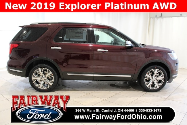 New 2019 Ford Explorer Platinum AWD SUV in Canfield