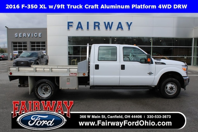 2016 Ford F-350SD XL w/9ft Truck Craft Aluminum Platform 4WD Truck
