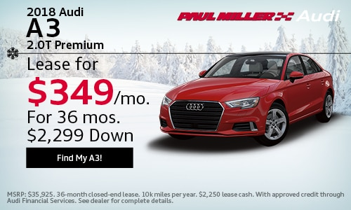 Paul Miller Audi New Audi Dealership In Parsippany NJ - Audi lease promotions