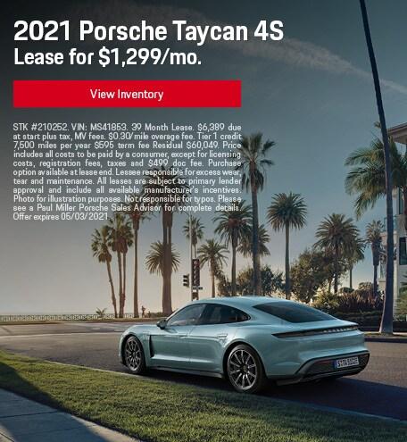2021 Porsche Taycan 4S April