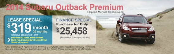 Chase Auto Finance Subaru >> Outback Special Paul Miller Subaru