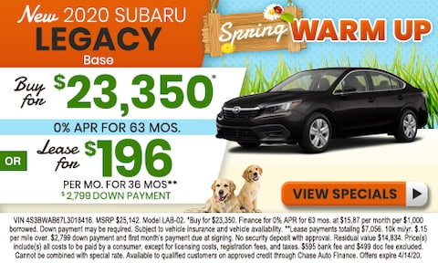 2020. Subaru Legacy