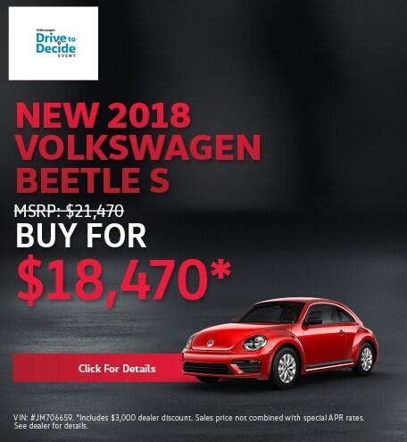 New 2018 Volkswagen Beetle S
