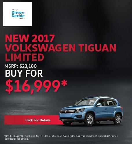 New 2017 Volkswagen Tiguan Limited