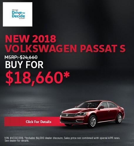 New 2018 Volkswagen Passat S