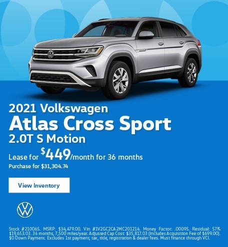 2021 Volkswagen Atlas Cross Sport 2.0T S Motion