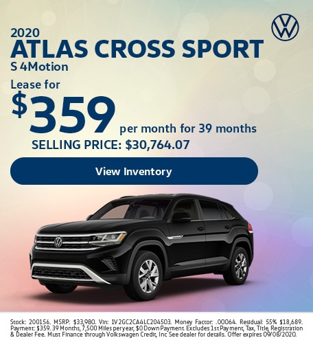 2020 Atlas Cross Sport S 4Motion