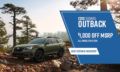 2020 Subaru Outback $1,000 off MSRP
