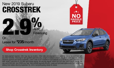 September Subaru Crosstrek Offer