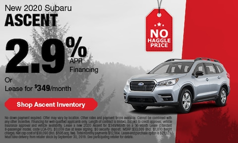 September Subaru Ascent Offer