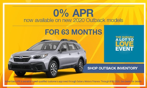August 2020 Outback APR Offer