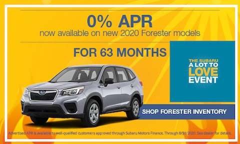 August 2020 Forester APR Offer