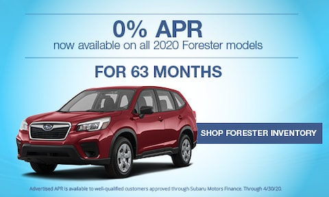 New 2020 Subaru Forester March APR Offer