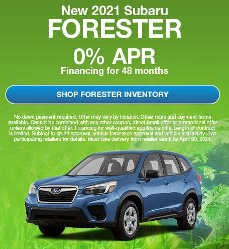 New 2021 Subaru Forester- April Offer